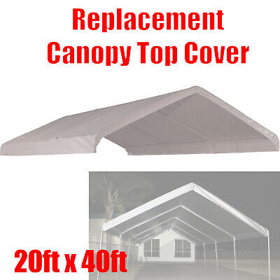 20 x 40 feet Carport Roof Top Cover White Tarp for Replacement Outdoor Canopy for sale  Shipping to South Africa