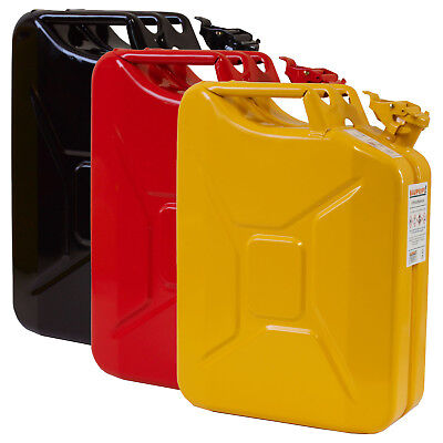 Stahlblechkanister Schwarz/Rot/Gold 20 Liter Benzinkanister 3er Kanister 20L NEU