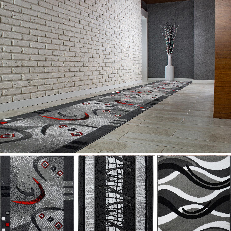 Hochwertig Modern Teppichläufer Küchenmatte Teppich Läufer Dunkelgrau Öko Tex