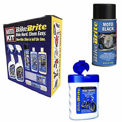 Bike Brite Motorcycle Detailing Kit 67 Fl. Oz. Powder Coated Engine And Whee...