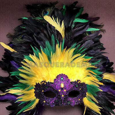 Mardi Gras Masquerade Ball Dresses (Newest Mardi Gras Masquerade Ball Feather QUEEN Mask Parade Cosplay Dress)