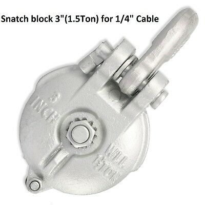 WIRE ROPE CABLE PULLEY  DSSB-1 Double Sheave Snatch Block /& Tackle 16,000 lbs.