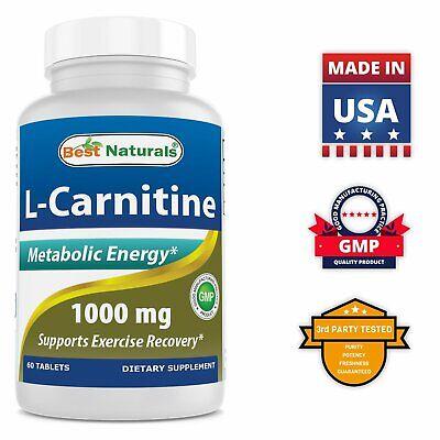 Best Naturals L-Carnitine 1000mg 60 Tablets *Boosts