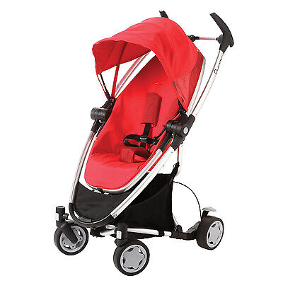 Quinny Zapp Xtra Folding Seat Stroller in Rebel Red New!! Open Box!!