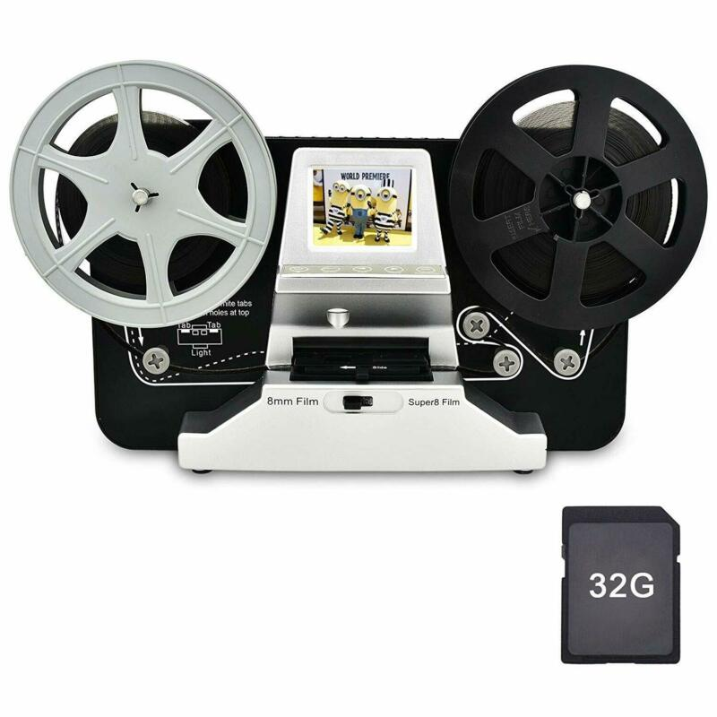 "Film Scanner 5""&3"" Reel 8mm Super 8 Roll Digital Video Scanner Movie Digitizer"
