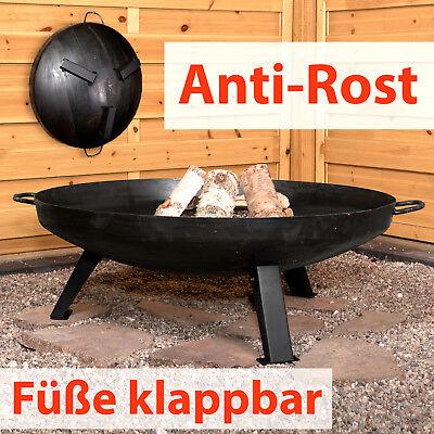 Köhko Feuerschale Ø 79 cm Anti-Rost Klappbare Beine Feuerkorb Klöpperboden
