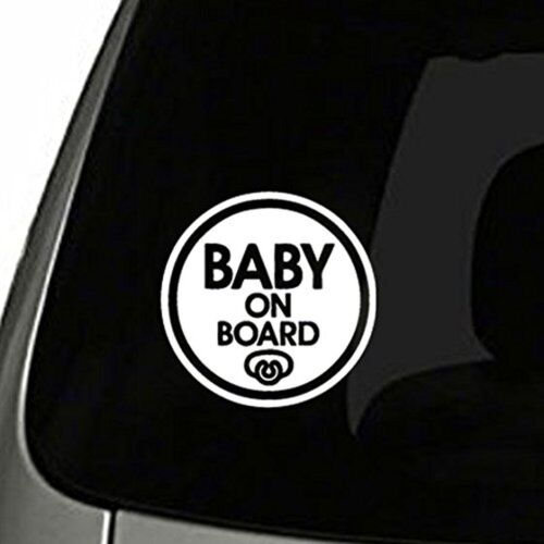Pacifier Baby on Board Sticker Decal Safety Caution Sign for Car Window