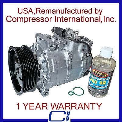 2004-2006 Phaeton 6.0L,2004-2010 Bentley Continental OEM Reman A/C Compressor