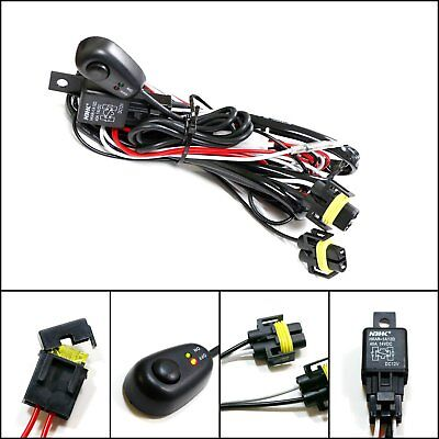 Winjet Universal Wiring Harness Include Switch Kit Car Auto Fog Lights Lamp... -