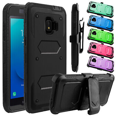 For Samsung Galaxy J2 Core/Dash/Pure Belt Clip Stand Holster Phone Case Cover