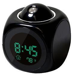 Projection Digital Weather LCD Snooze Alarm Clock Color Display LED Backlight WN