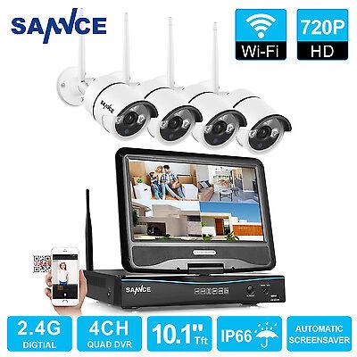 720P 4CH Funk HD WLAN Überwachungsset Kamera Nachtsicht Fernzugriff IP Kamera