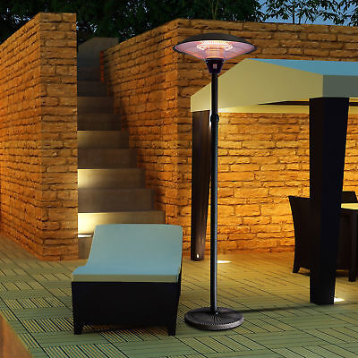 Outdoor Electric Halogen Patio Heater Adjustable 1500w Frees
