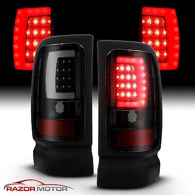 For 94-01 Dodge Ram 1500 2500 3500 Smoke Black C-Shape LED Tube Tail Lights L+R