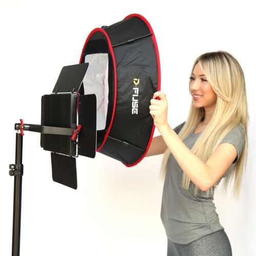 Kamerar Dfuse LED Collapsible Softbox Foldable, Portable Diffuser, Straps