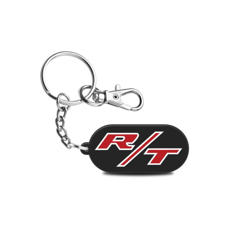 Dodge R/T Logo Custom Laser Cut Full-Color Printing Acrylic Charm Key Chain