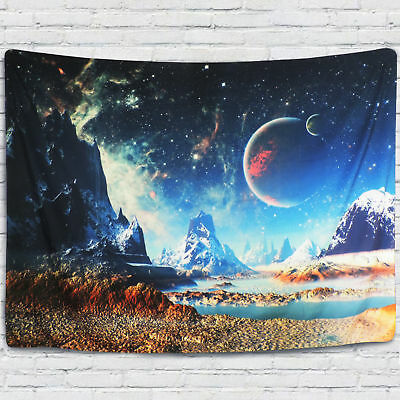 Tapestry Wall Hanging Outer Space Planet  Room Bedspread Home Tapestry Decor US - Outer Space Decor