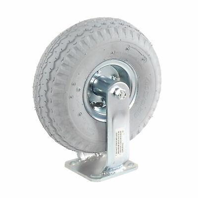 10 Full Pneumatic Wheel Rigid Plate Caster 330 Lb. Capacity