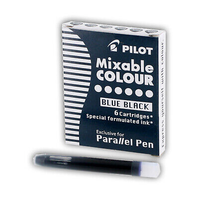 Pilot Parallel Mixable Colour Pen Ink Refills Blue-black Ink Box Of 6 77306