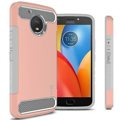 Protective Rose Gold Matte Layer Case For Motorola Moto E4 Plus (E Plus 4th (Matte Rose Gold)