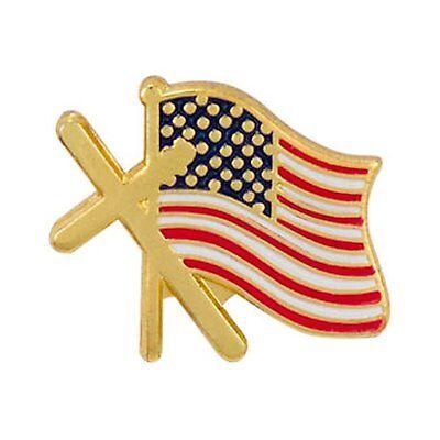 lag Lapel Pins - Patriotic Christian Pins - Set of 12 Pins (Christian Lapel Pins)