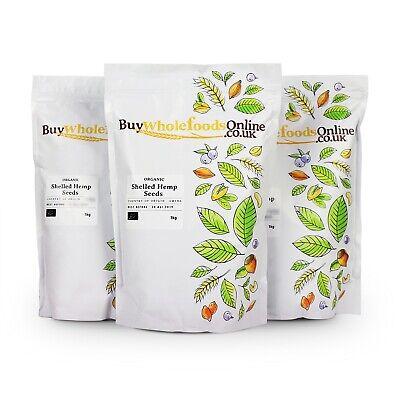 Organic Shelled Hemp Seeds 3kg   Buy Whole Foods Online   Free UK Mainland P&P