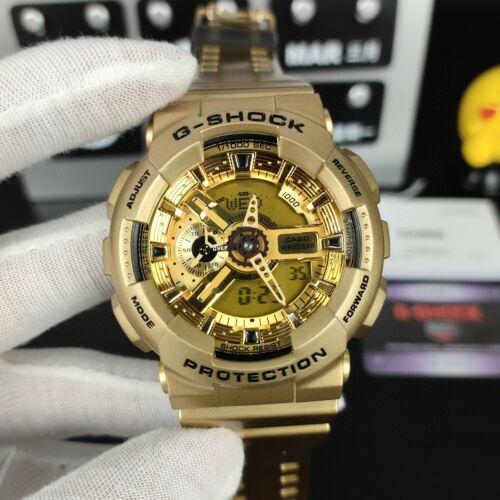 NEW G-Shock GA110-GD9A Quartz Movement Digital Dial Gold Men