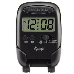 31302 Equity by La Crosse Blue Backlight LCD Digital Fold-Up Travel Alarm Clock