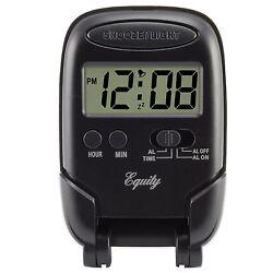 31302 Equity by La Crosse Blue Backlight LCD Digital Fold-Up Travel Alarm Clock