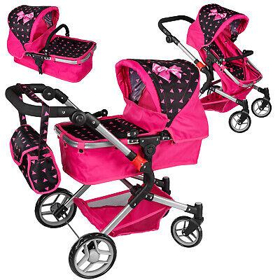 Puppenwagen Puppenwagen Babypuppenwagen KP0250R Kinderwagen Puppe Sportsitz