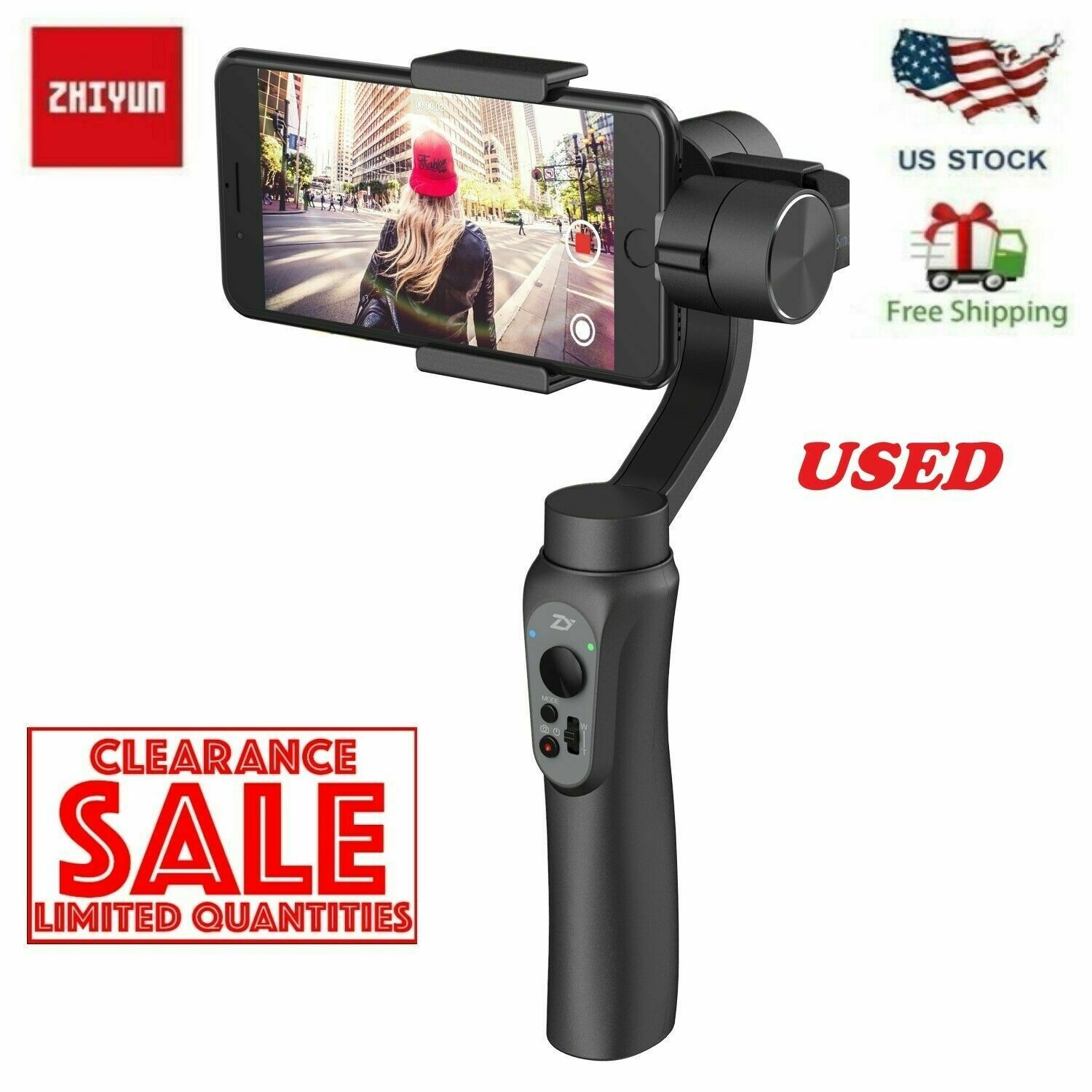 1 von 11 : USED Zhiyun Smooth-Q Handheld Gimbal Stalilizer for Smartphone iPhone Android  • 32,88 €