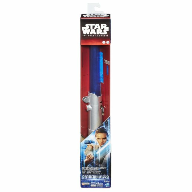 NEW HASBRO STAR WARS BLADE BUILDERS ELECTRONIC LIGHTSABER REY B5898