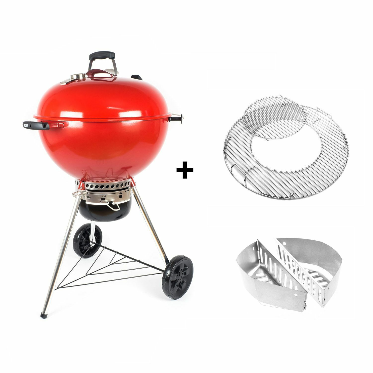 Weber Master-Touch GBS, Limited Special Edition, 57cm, rot, red | Holzkohlegrill
