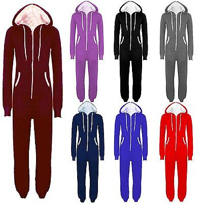 Plus Size Onesies (New Plus Size Unisex All In One Hooded Onesie One Piece Jumpsuits)