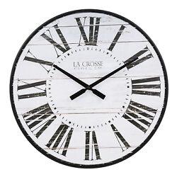 BBB81434 La Crosse Clock Co. 21 Kenley Plastic Open Face Analog Wall Clock