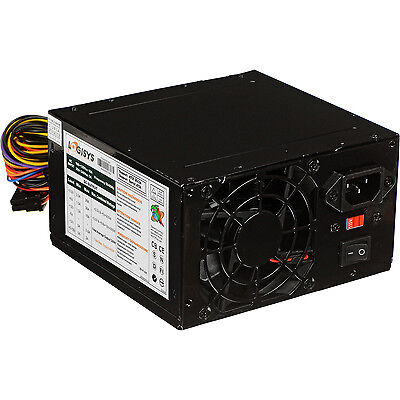 Logisys 480W Black Beauty 20+4-pin ATX Black PSR Power Supply w/SATA
