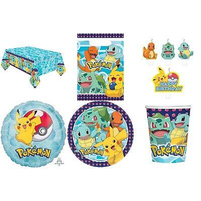 Pokemon Party Deko Dekoration Becher Teller Kerzen Tüten Taschen Auswahl