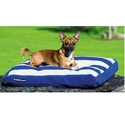 Horseware Comfy Rambo Dog Bed Deluxe Whitney Stripe Navy Small removable pillow -
