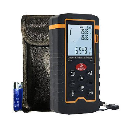 Hti Laser Distance Meterdigital Laser Ruler With Mute Function And Lcd Display