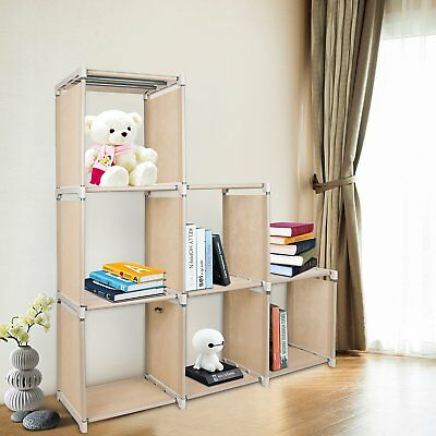 Azadx 6 Cube Storage Shelves,  DIY Modular Closet Organizer Unit and Bookshelf