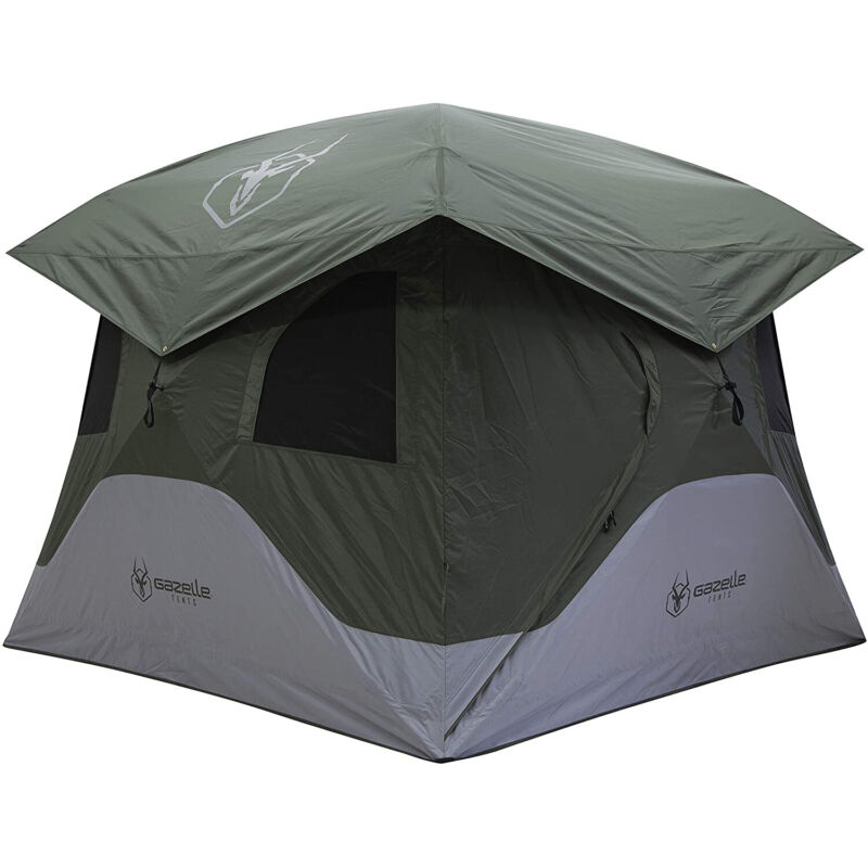 Gazelle T4 Extra Large 4 Person Family Instant Pop Up Camping Hub Tent(Open Box)