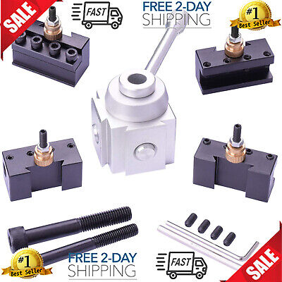 9pc Multi Use Mini Lathe Quick Change Steel Tool Post Holders Tooling Package