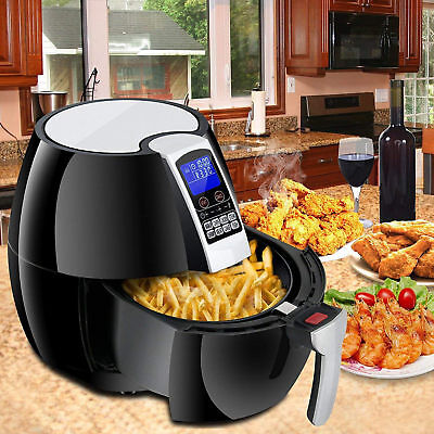 1500W LCD Electric Air Fryer W/ 8 Cooking Presets, Temperature...
