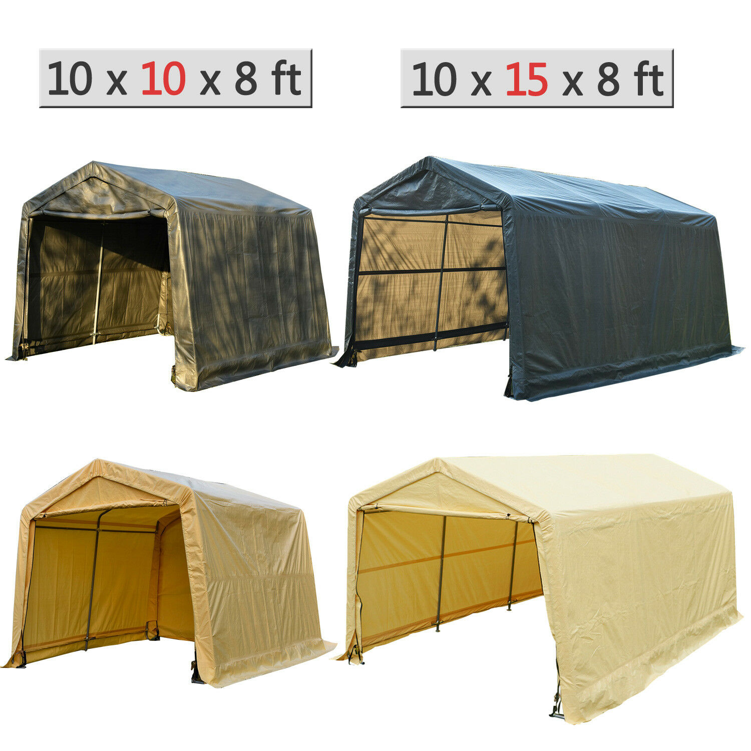 Canopy Carport Tent Auto Shelter Car Storage Shed Cover Outd