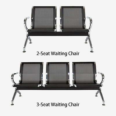 Airport Reception Chair Waiting Room Chair Guest Bench For Office Business Black
