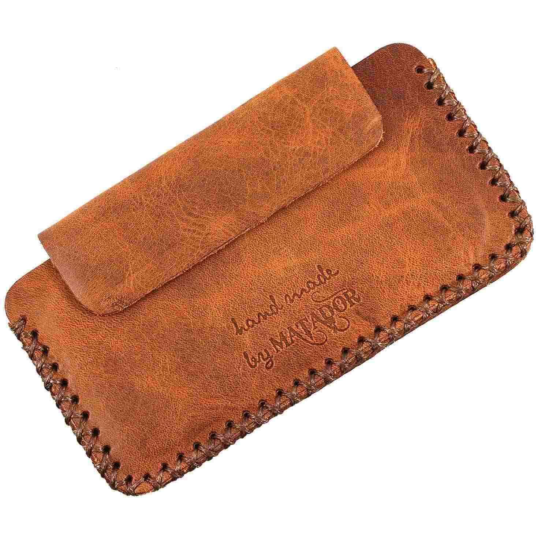 Matador ECHT Leder Hülle Tasche Sony Xperia XA1 Hand-Made Braun-01 Handy Case