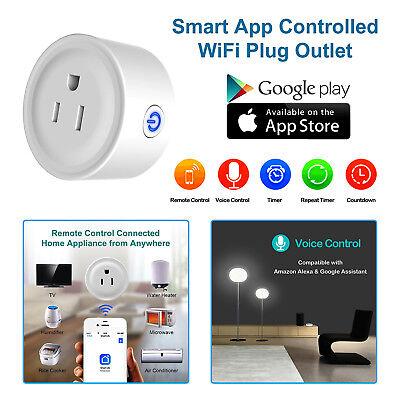 WiFi Smart Plug Power Outlet Timer Remote Control Alexa App Wireless Socket US
