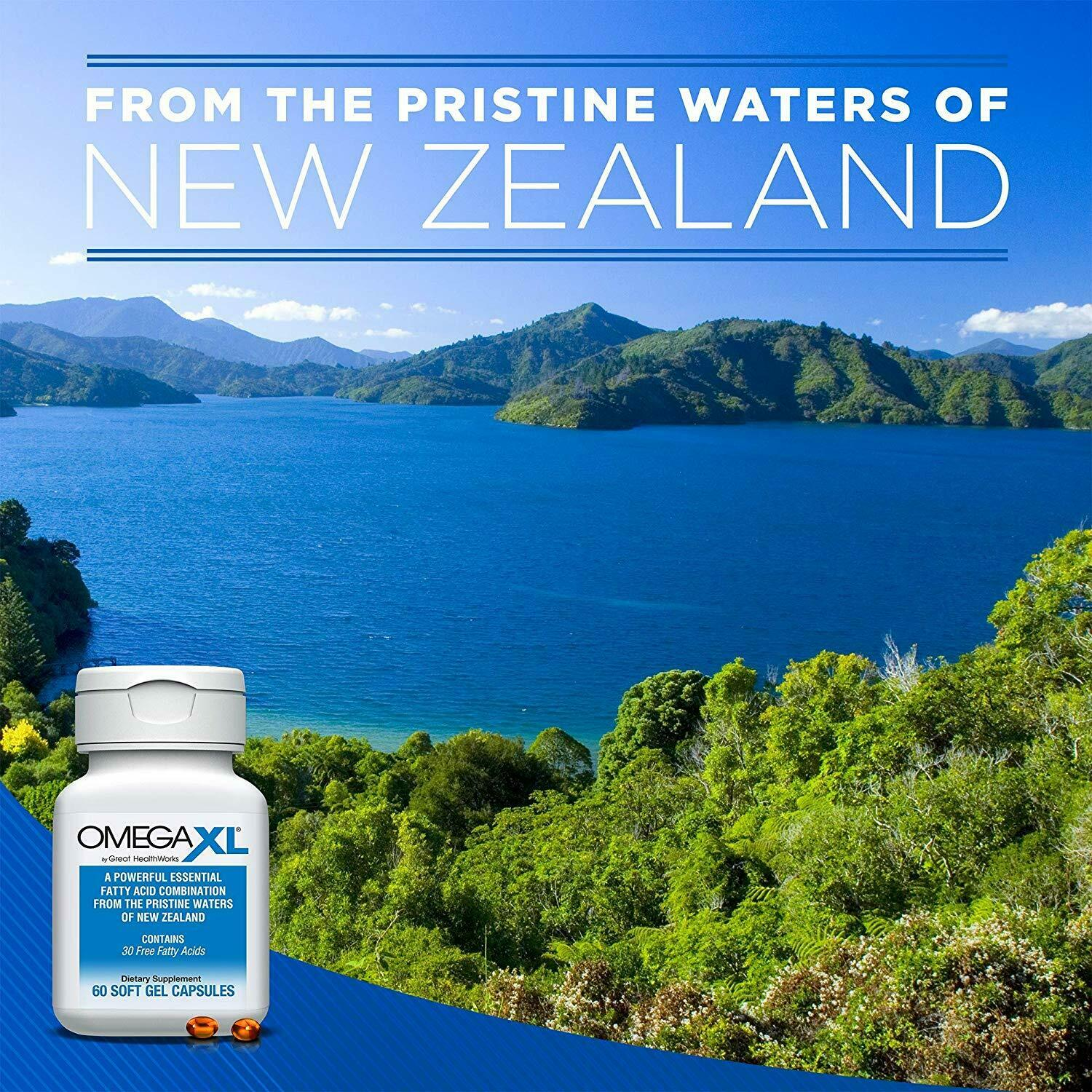 Omega XL 120 Capsules - Green Lipped Mussel New Zealand Omega 3 3