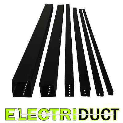 1.2x1.4 Open Slot Wire Duct - 6 Sticks - Total Feet 39ft - Black -electriduct