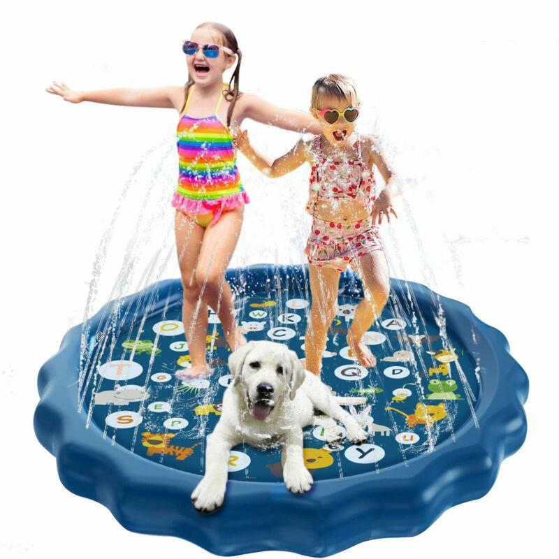 Splash Pad Sprinkler for Dogs Kids Wading Pool Childrens Inflatable Water Toys